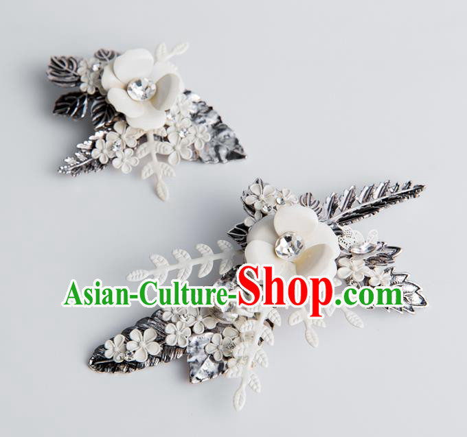 Handmade Classical Wedding Hair Accessories Bride Flower Hair Claw Headwear for Women