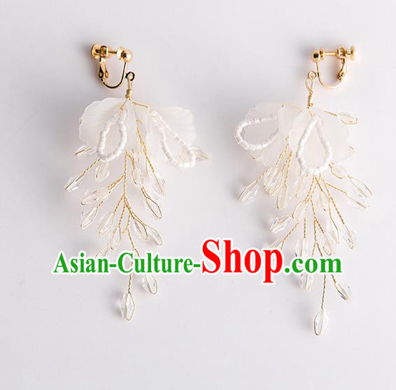 Handmade Classical Wedding Accessories Earrings Baroque Bride Ear Pendant for Women