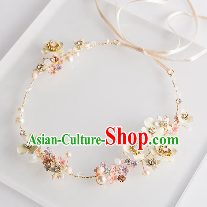 Handmade Classical Wedding Hair Accessories Bride Flower Headband Hair Clasp for Women