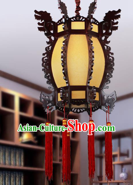 Traditional Chinese Yellow Palace Lanterns Handmade Hanging Lantern Ancient Ceiling Lamp
