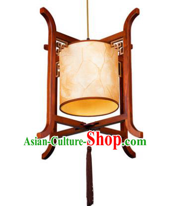 Traditional Chinese Wood Hanging Palace Lanterns Handmade Lantern Ancient Ceiling Lamp