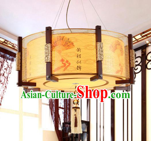 Traditional Chinese Wood Painted Hanging Palace Lanterns Handmade Lantern Ancient Ceiling Lamp