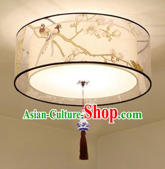 Traditional Chinese Printing Flowers Birds Ceiling Palace Lanterns Handmade Lantern Ancient Lamp