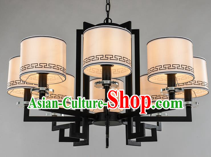 Traditional Chinese Ceiling Palace Lanterns Handmade Eight-Lights Lantern Ancient Lamp