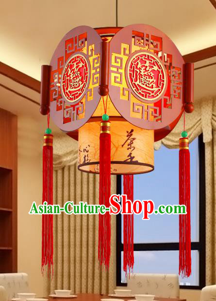 Traditional Chinese Wood Carving Palace Lanterns Handmade Hanging Lantern Ancient Ceiling Lamp
