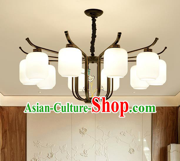 Traditional Chinese Style Ceiling Palace Lanterns Handmade Ten-Lights Lantern Ancient Lamp