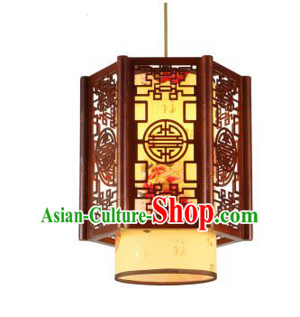 Traditional Chinese Painted Peony Hanging Palace Lanterns Handmade Lantern Ancient Ceiling Lamp