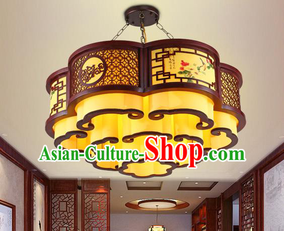 Traditional Chinese Wood Ceiling Palace Lanterns Handmade Lantern Ancient Hanging Lamp