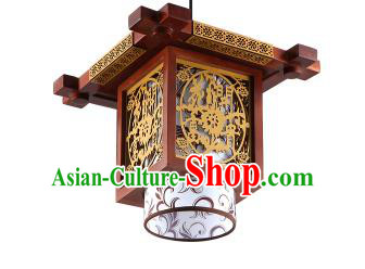 Traditional Chinese Wood Carving Hanging Ceiling Palace Lanterns Handmade Lantern Ancient Lamp