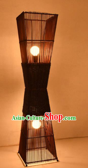 Traditional Chinese Carving Bamboo Lanterns Handmade Lantern Ancient Floor Lamp