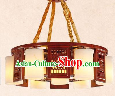 Traditional Chinese Wood Carving Ceiling Lanterns Ancient Handmade Marble Lantern Ancient Lamp