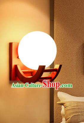 Traditional China Ancient Round Lanterns Handmade Wood Lantern Ancient Wall Lamp