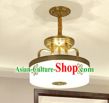 Traditional Chinese Golden Ceiling Lanterns Ancient Handmade Brass Lantern Ancient Lamp