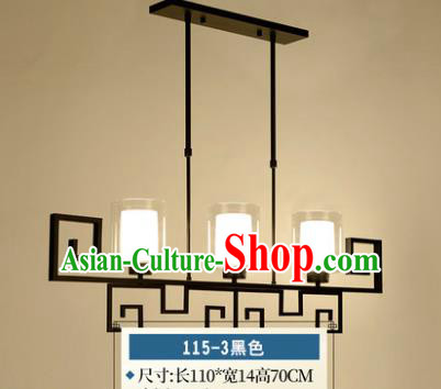 Traditional Chinese Hanging Lanterns Ancient Handmade Three-Lights Ceiling Lantern Ancient Lamp