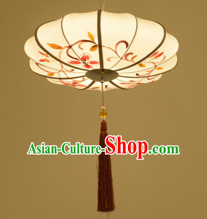 Traditional Chinese Painting Hanging Lanterns Ancient Handmade Ceiling Lantern Ancient Lamp