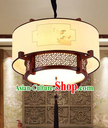Traditional Chinese Handmade Painted Hanging Lantern Asian Ceiling Lanterns Ancient Lantern