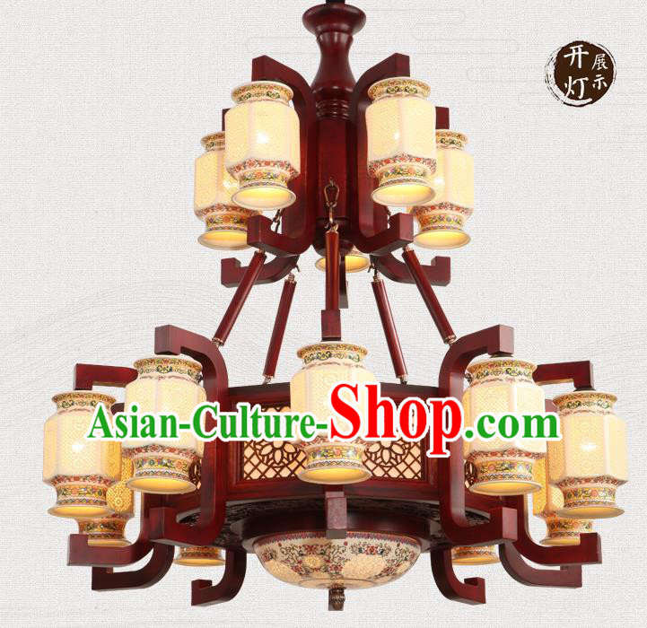 Traditional Chinese Handmade Ceramics Ceiling Lantern Asian Lanterns Ancient Lantern
