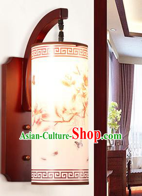 China Handmade Wood Parchment Wall Lantern Painting Lanterns Traditional Lamp