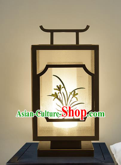 Traditional China Ancient Iron Orchid Desk Lanterns Handmade Table Lantern Ancient Lamp