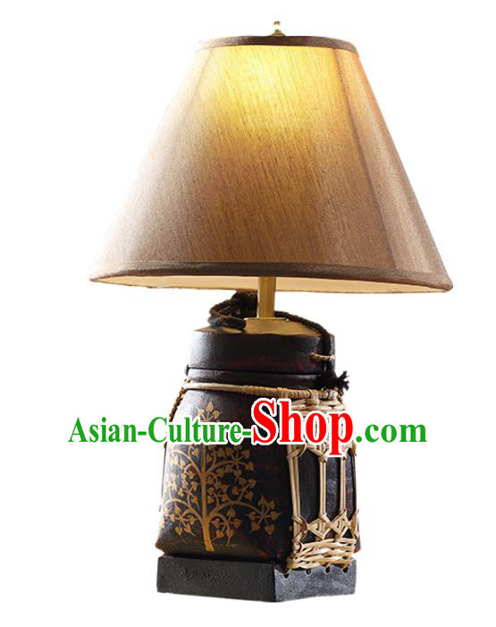 Handmade Thailand Desk Lantern Asian Lanterns Religion Lantern Traditional Lamp