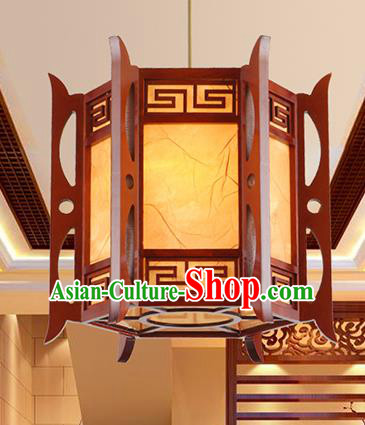 Traditional Chinese Handmade Wood Hanging Lantern Asian Palace Ceiling Lanterns Ancient Lantern