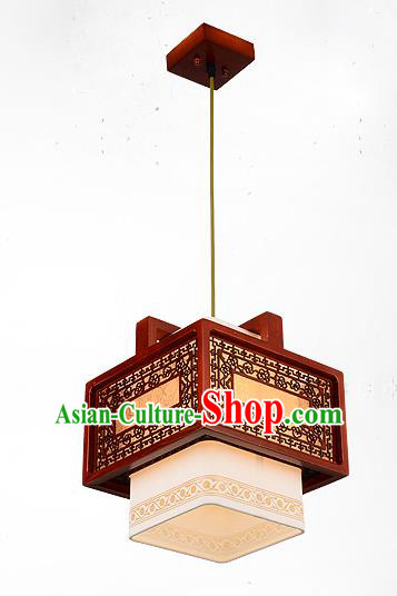 Traditional Chinese Handmade Lantern Wood Carving Hanging Lantern Ancient Palace Ceiling Lanterns