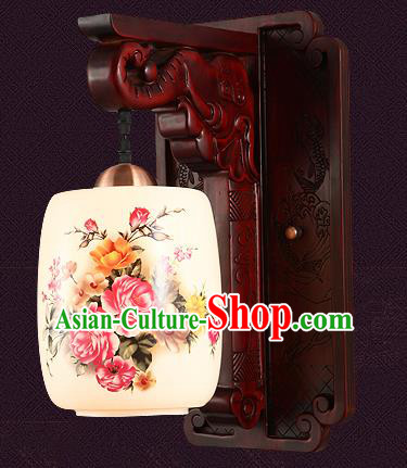 China Handmade Palace Lanterns Painted Wall Lantern Ancient Wood Lanterns Traditional Lamp