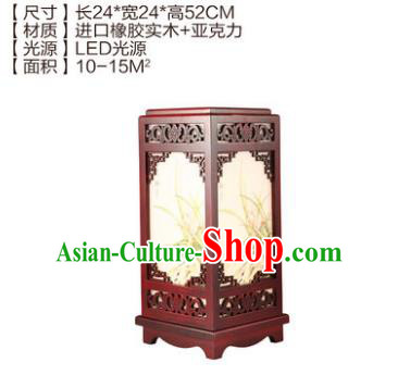 China Handmade Palace Lanterns Desk Lantern Ancient Wood Lanterns Traditional Lamp