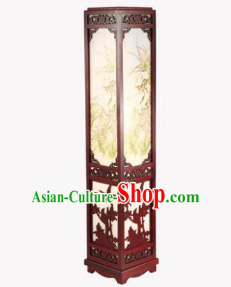 China Handmade Palace Lanterns Floor Lantern Ancient Wood Carving Lanterns Traditional Lamp