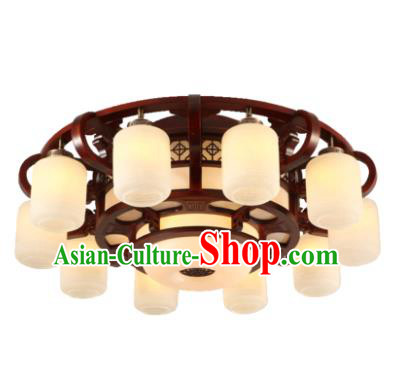 Traditional Chinese Handmade Ten-Lights Lantern Wood Lantern Ancient Palace Ceiling Lanterns