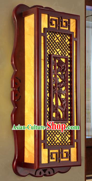 China Handmade Palace Lanterns Wall Lantern Ancient Wood Carving Bamboo Lanterns Traditional Lamp