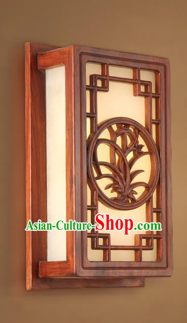 China Handmade Marble Lanterns Palace Wall Lantern Ancient Wood Carving Orchid Lanterns Traditional Lamp