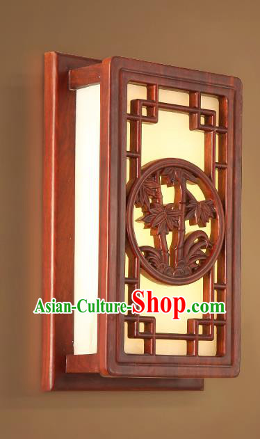 China Handmade Marble Lanterns Palace Wall Lantern Ancient Wood Carving Bamboo Lanterns Traditional Lamp