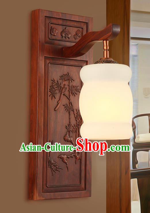 China Handmade Rosewood Carving Lanterns Palace Marble Wall Lantern Ancient Lanterns Traditional Lamp