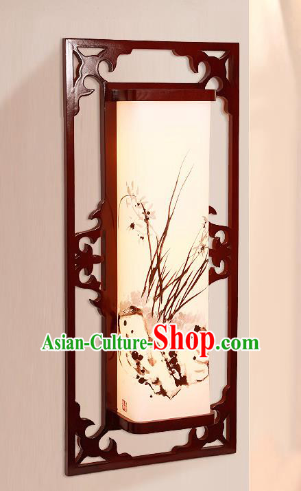 China Handmade Painted Orchid Lanterns Palace Wall Lantern Ancient Lanterns Traditional Lamp
