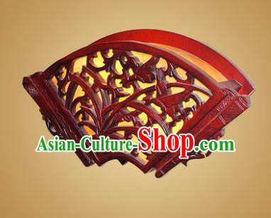 China Handmade Wood Wall Lanterns Carving Orchid Palace Lantern Ancient Lanterns Traditional Lamp