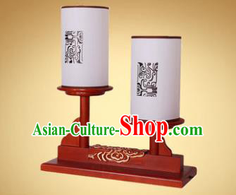 China Handmade Wood Lanterns Palace Desk Lantern Ancient Lanterns Traditional Lamp