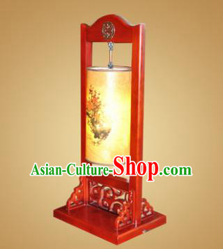 China Handmade Wood Painted Lanterns Palace Desk Lantern Ancient Lanterns Traditional Lamp