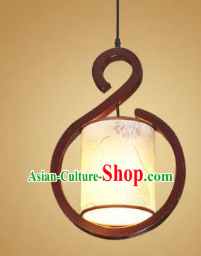 Traditional Chinese Handmade Wood Palace Lantern Painted Hanging Lanterns Ancient Lamp