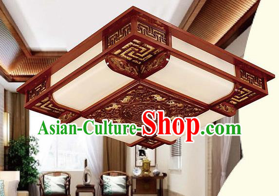 Traditional Chinese Palace Lantern Handmade Wood Carving Ceiling Lanterns Ancient Lamp