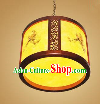 Traditional Chinese Hanging Palace Lantern Handmade Painting Plum Blossom Ceiling Lanterns Ancient Lamp