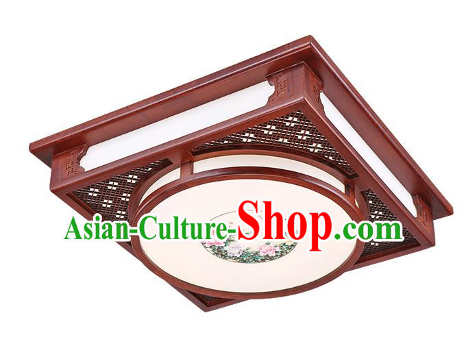 Traditional Chinese Hanging Palace Lantern Handmade Wood Squre Ceiling Lanterns Ancient Lamp