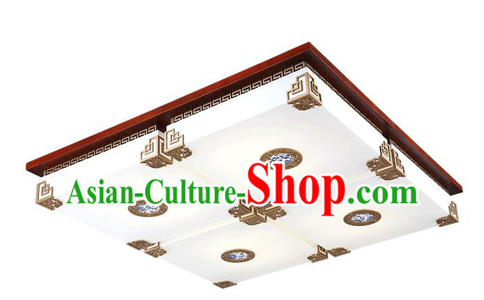 Traditional Chinese Square Palace Lantern Handmade Painting Ceiling Lanterns Ancient Lamp