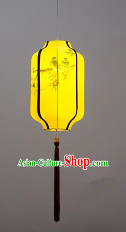 Traditional Chinese Palace Lantern Handmade Painting Flowers Birds Ceiling Lanterns Ancient Lamp