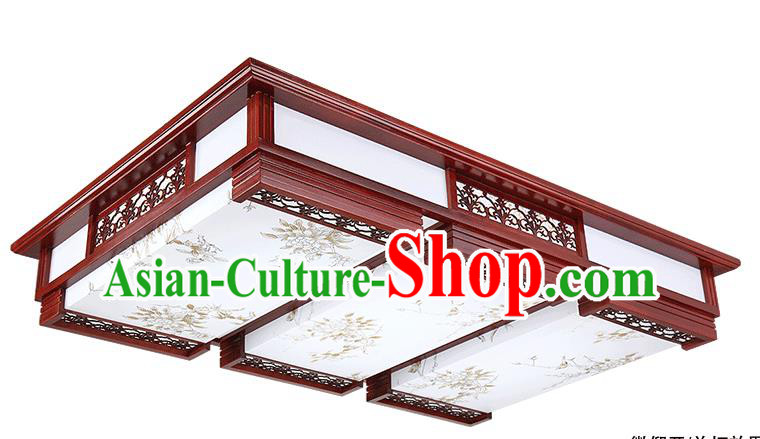 Traditional Chinese Painted Bamboo Palace Lantern Handmade Ceiling Lanterns Ancient Lamp