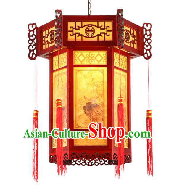 Traditional Chinese Palace Lantern Handmade New Year Wood Ceiling Lanterns Ancient Lamp