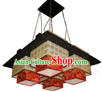 Traditional Chinese Parchment Palace Lantern Handmade Carving Ceiling Lanterns Ancient Lamp