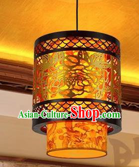 Traditional Chinese Carving Peony Palace Lantern Handmade Ceiling Lanterns Ancient Lamp