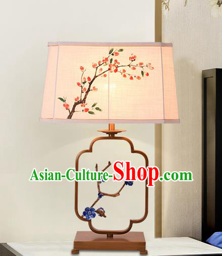 Traditional Chinese Palace Lantern Handmade Painting Peach Blossom Desk Lanterns Ancient Lamp