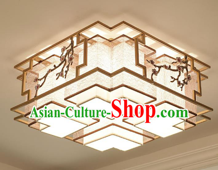 China Handmade Ceiling Lanterns Traditional Chinese Embroidered Four-Lights Palace Lantern Ancient Lanterns